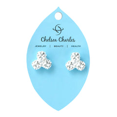 Chelsea Charles Silver Golf Ball Bead Cluster Earrings