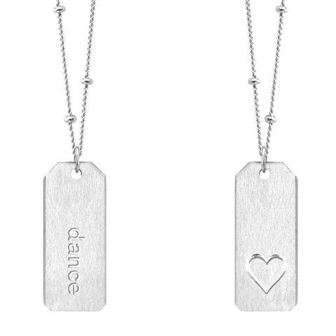 Love Tag Necklace - dance