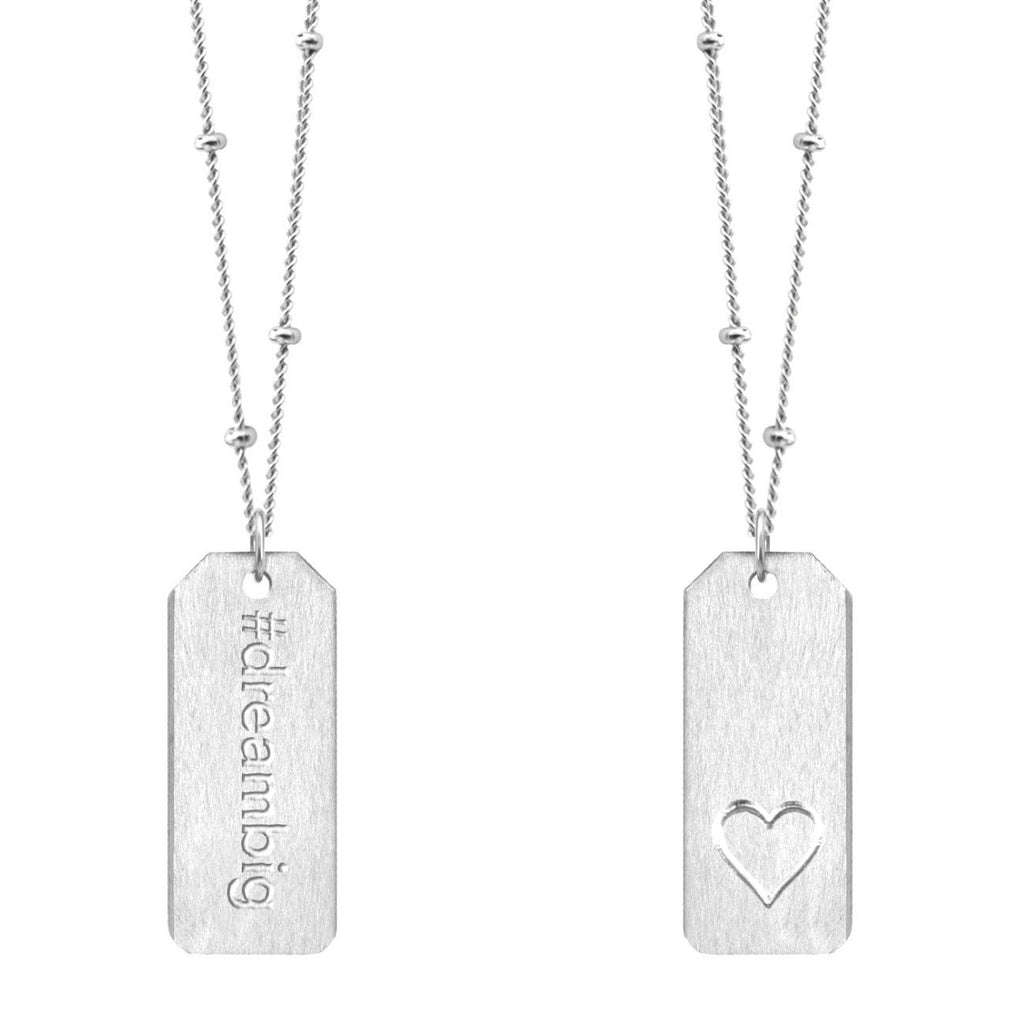 Chelsea Charles #dreambig sterling silver Love Tag necklace
