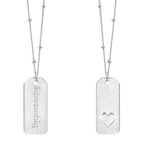 Love Tag Necklace - #dreambig