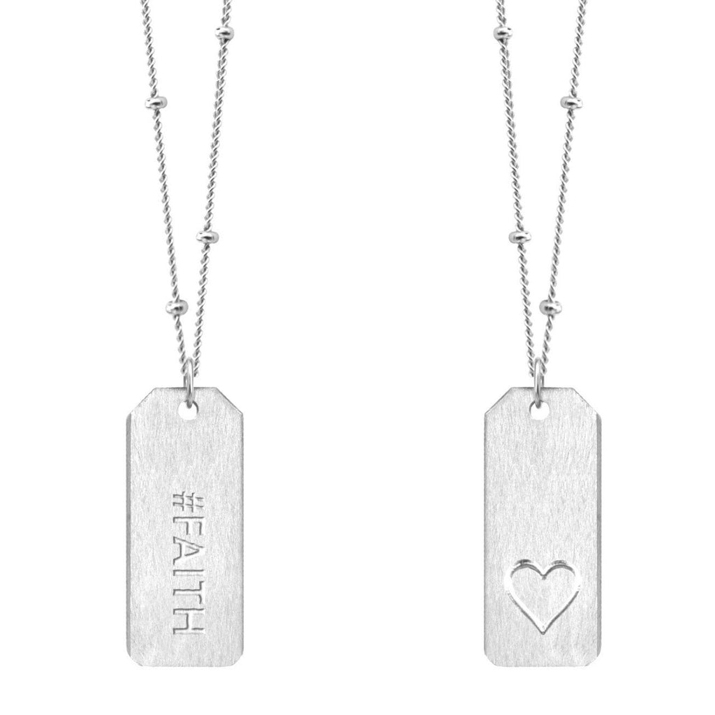 Chelsea Charles #FAITH Love Tag necklace in sterling silver