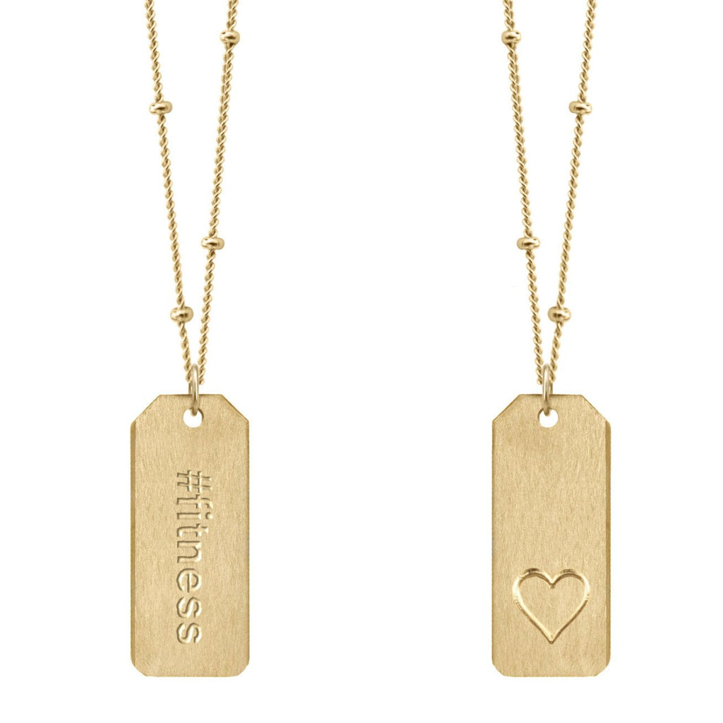 Chelsea Charles #fitness Love Tag Necklace 14k gold