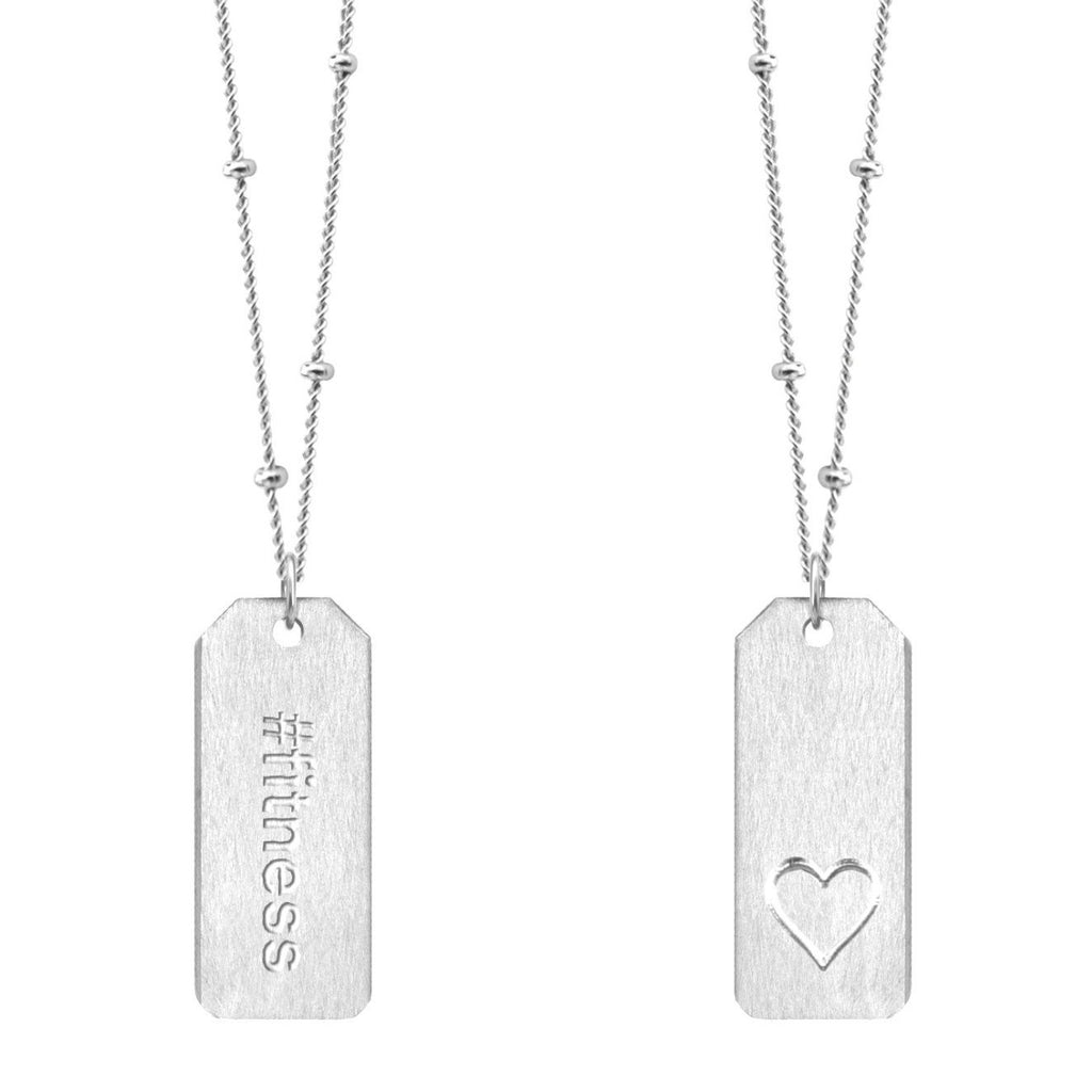 Chelsea Charles #fitness sterling silver Love Tag necklace