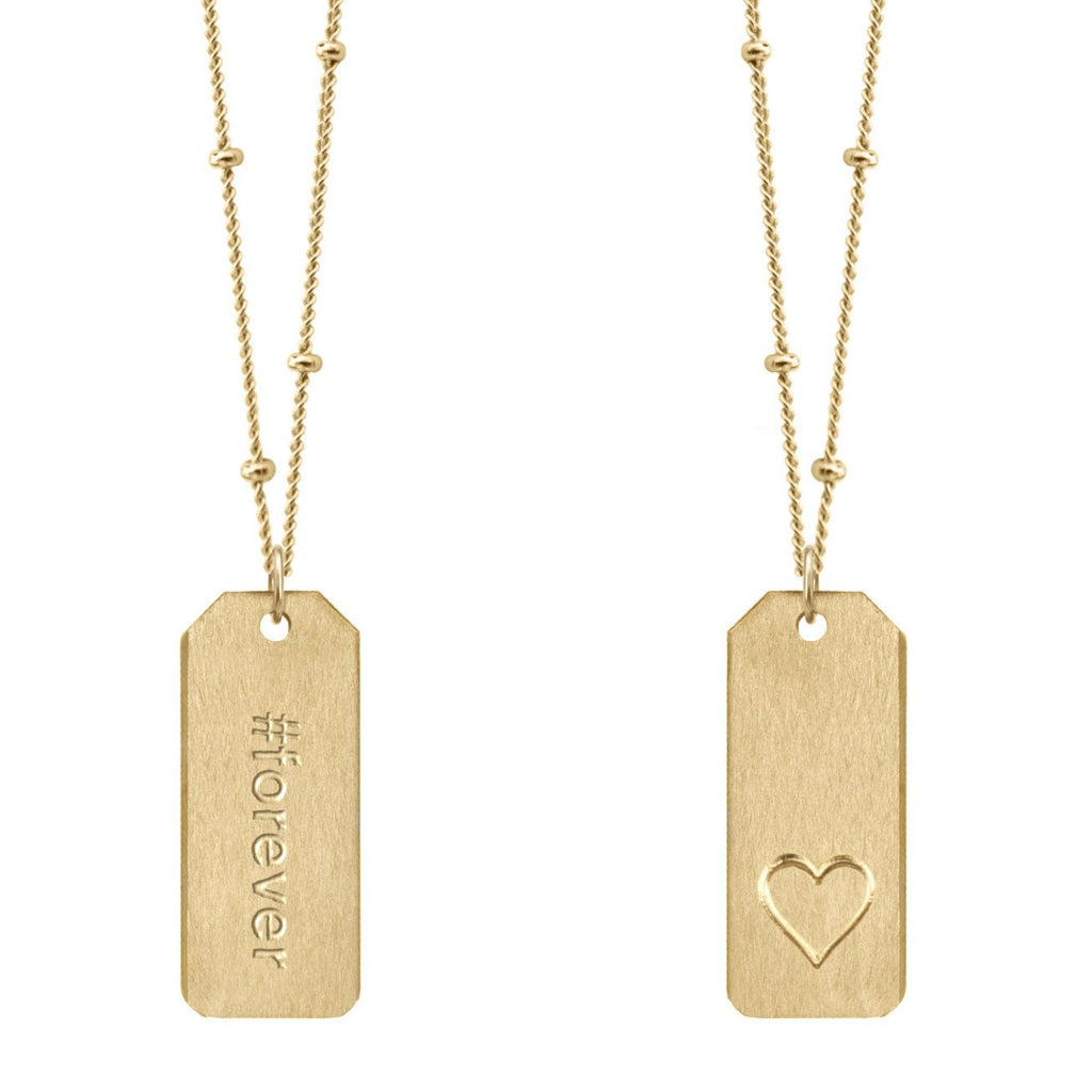 Chelsea Charles #forever gold Love Tag necklace