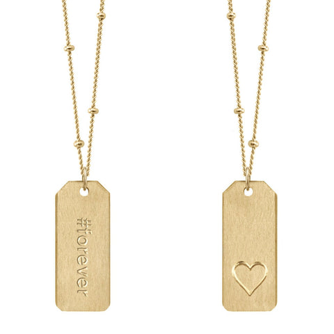 Love Tag Necklace - #forever