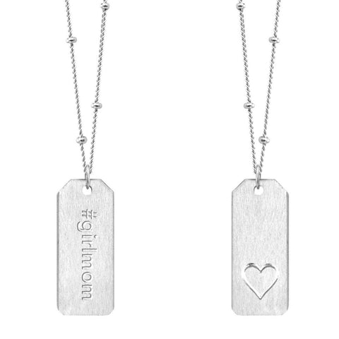 Love Tag Necklace - #girlmom