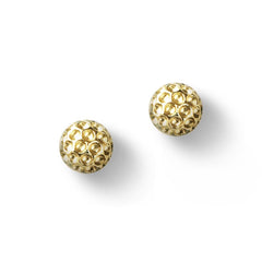 Chelsea Charles Golf Goddess Gold Golf Ball Earrings