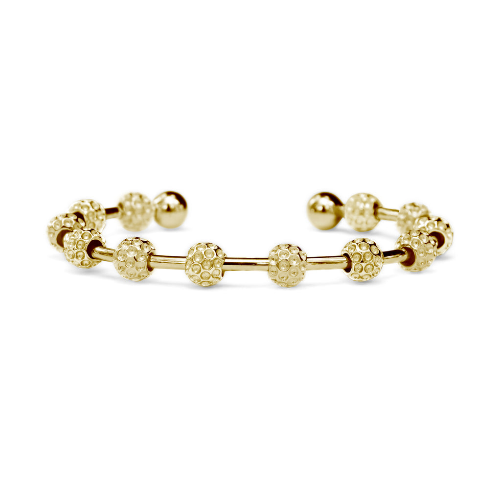 Golf Goddess Gold Golf Ball Bead Stroke Counter Bracelet by Chelsea Charles