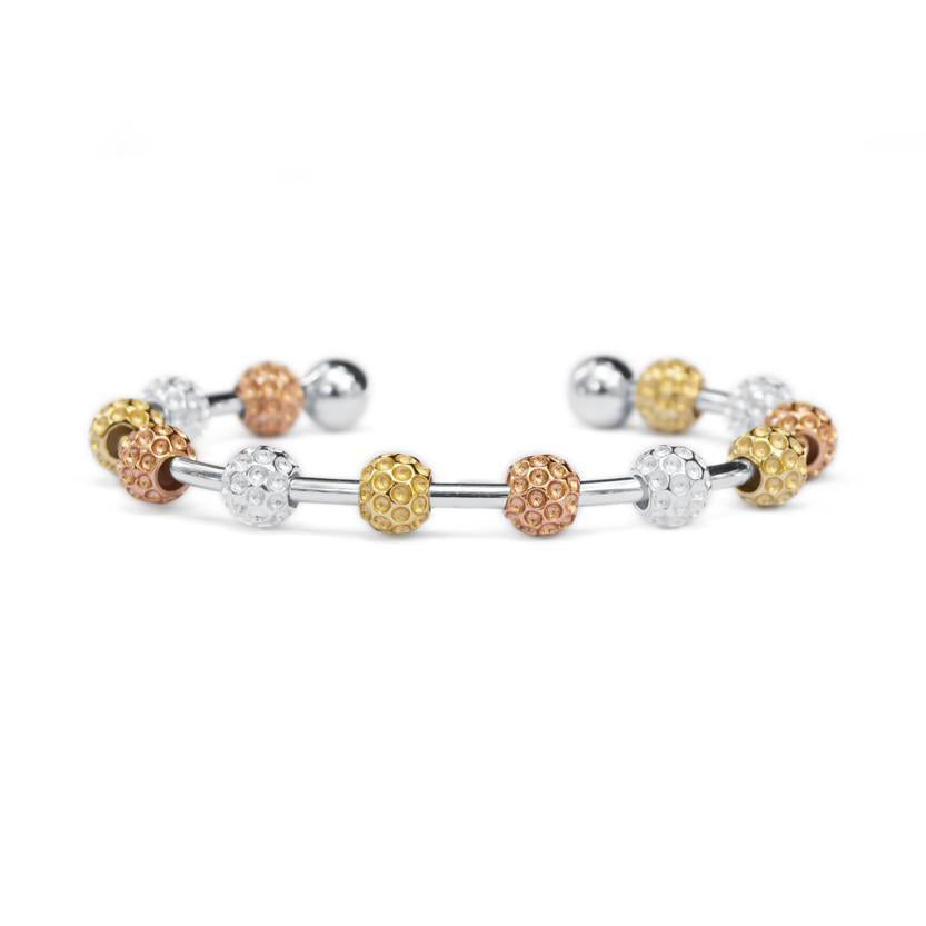 Golf Goddess Tricolor Golf Ball Bead Stroke Counter Bracelet by Chelsea Charles