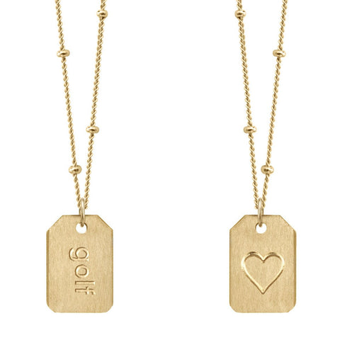 Chelsea Charles gold gold Love Tag necklace