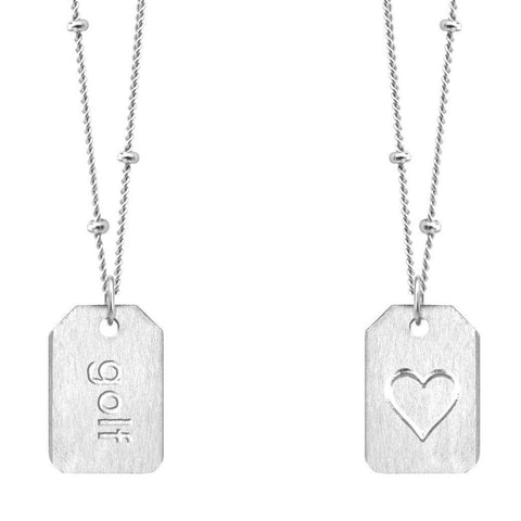 Love Tag Necklace - golf