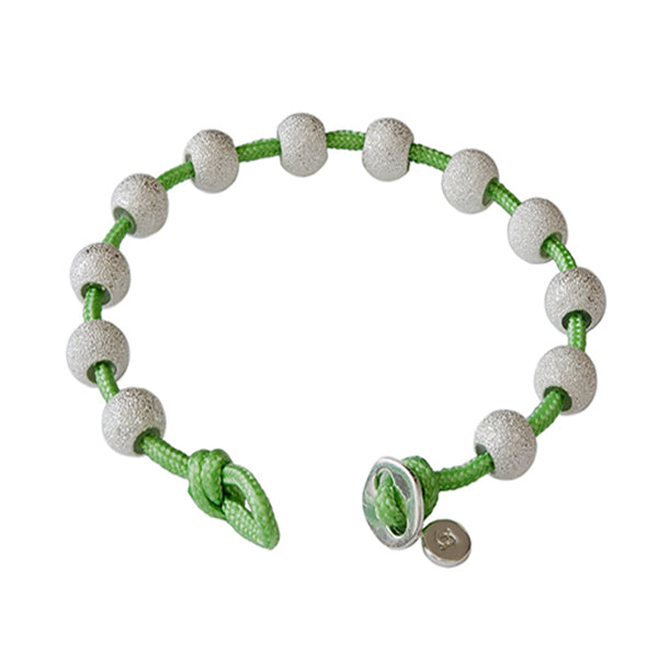 Ivy and Silver Color Wrap Journal Bracelet