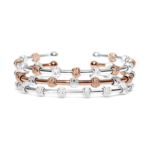 Hannah Silver & Rose Gold Stack