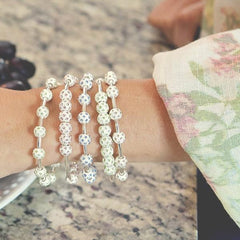 Golf Goddess Pale Sapphire Crystal Stroke Counter Bracelet
