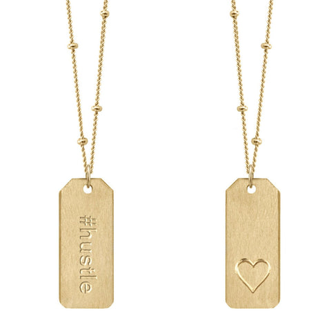 Chelsea Charles #hustle gold Love Tag necklace
