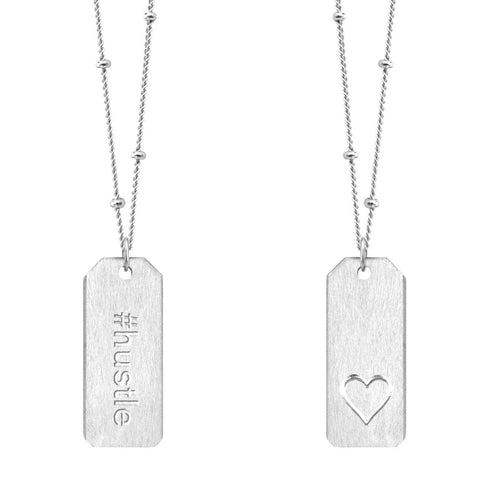 Love Tag Necklace - #hustle