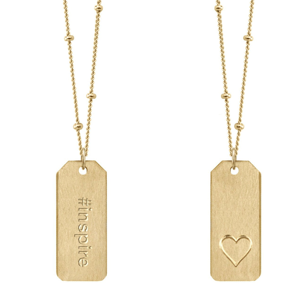 Chelsea Charles #inspire gold Love Tag necklace