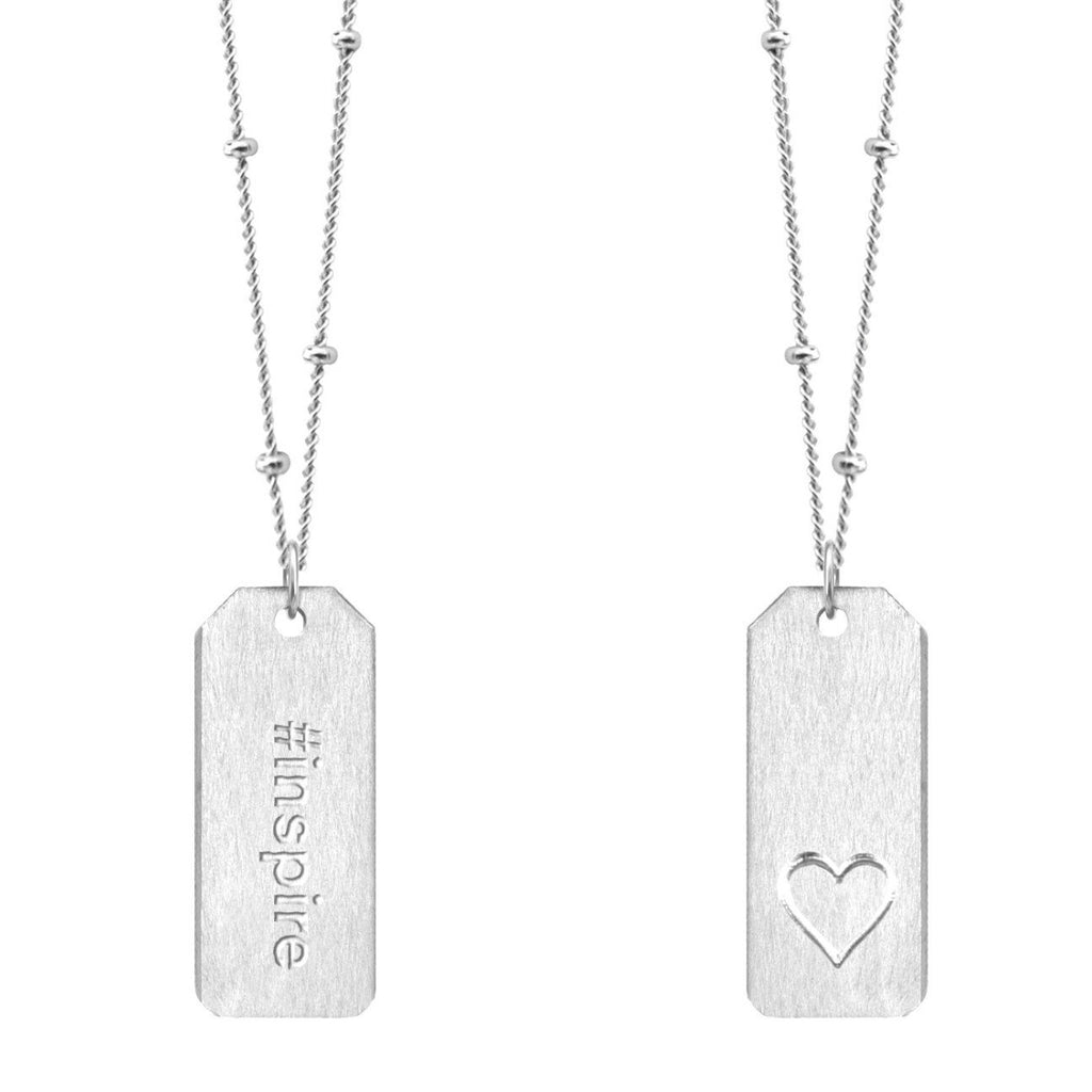 Chelsea Charles #inspire sterling silver Love Tag necklace