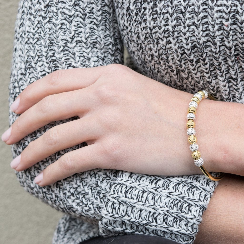 Laurel Two-Tone Gold and Silver Journal Bracelet