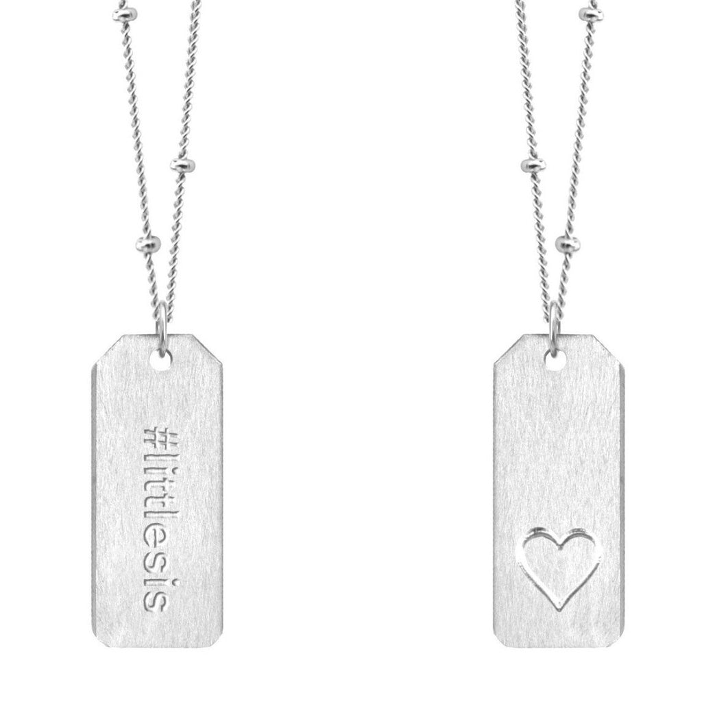 Chelsea Charles #littlesis sterling silver Love Tag necklace