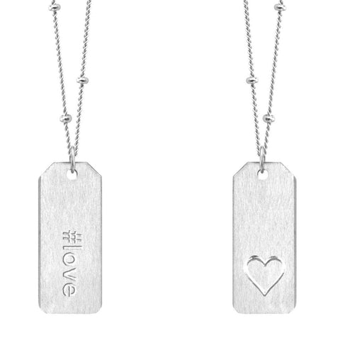 Chelsea Charles #love gold Love Tag necklace