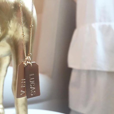 Love Tag Necklace - #DESIGN YOUR OWN