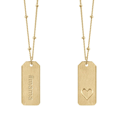 Chelsea Charles #mama Love Tag necklace in 14k gold-filled