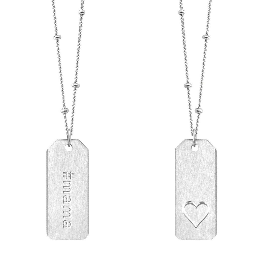 Chelsea Charles #mama Love Tag necklace in sterling silver