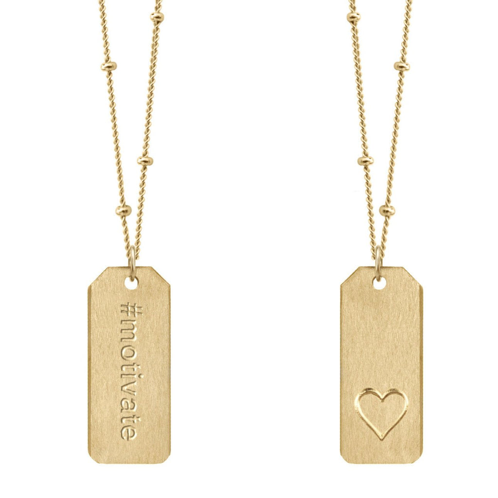 Chelsea Charles #motivate gold Love Tag necklace