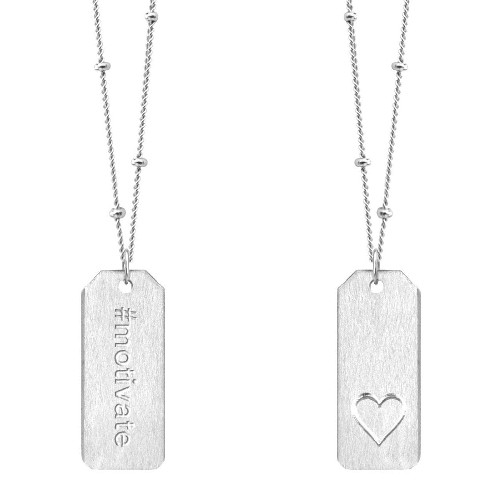 Chelsea Charles #motivate sterling silver Love Tag necklace