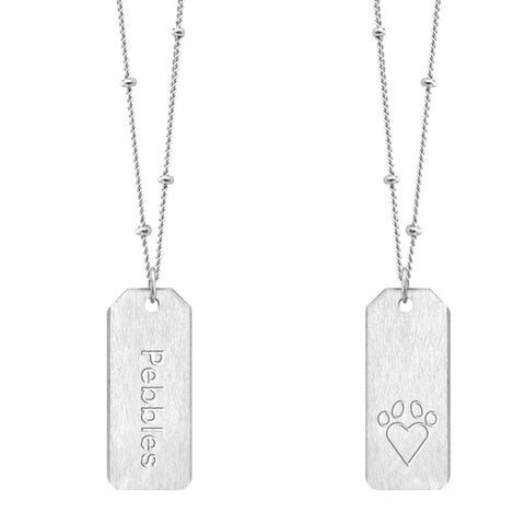 Chelsea Charles Love Tag Paw Print Necklace