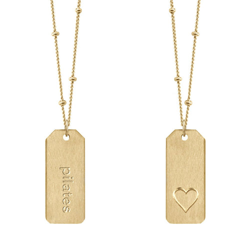 Love Tag Necklace - pilates
