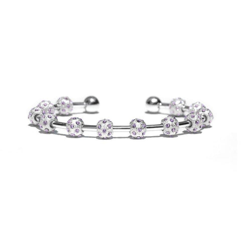 Count Me Healthy Lilac Crystal & Silver Bracelet