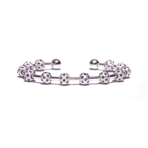 Count Me Healthy Amethyst & Silver Bracelet (New)