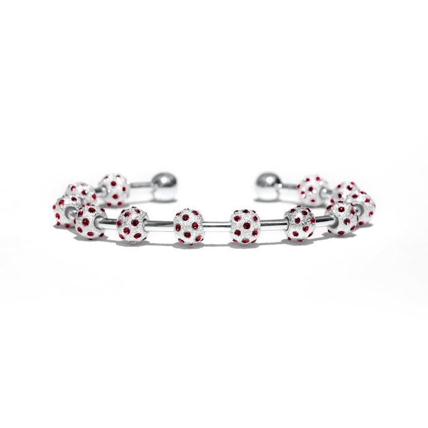 Golf Goddess Ruby Crystal and Silver Score Counter Bracelet