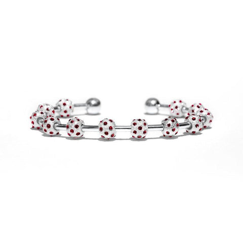 Golf Goddess Ruby Crystal Score Counter Bracelet