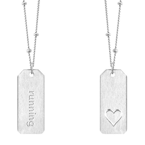 Love Tag Necklace - running
