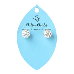 Chelsea Charles Silver Golf Ball Earrings