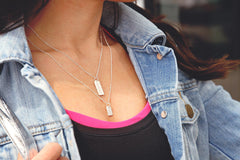 Love Tag Necklace - #wanderlust (long tag)