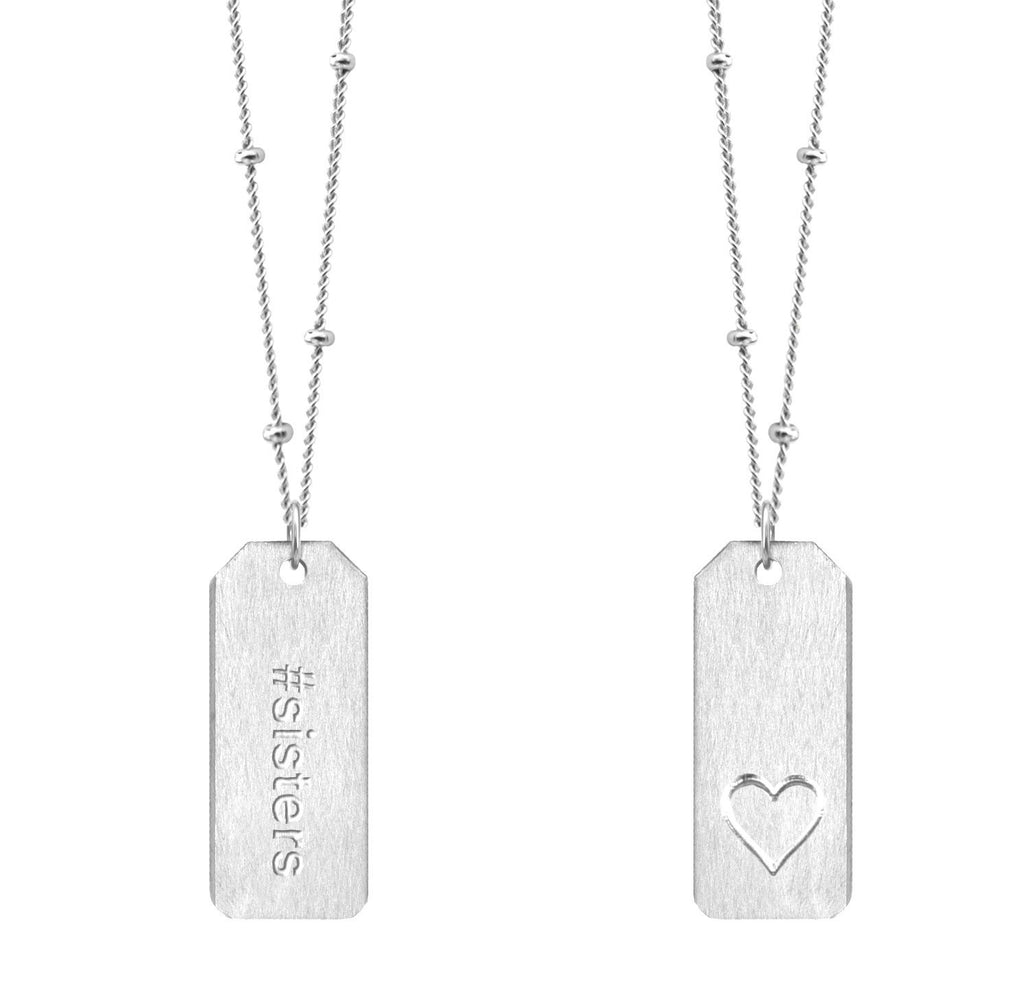 Chelsea Charles #sisters Love Tag necklace