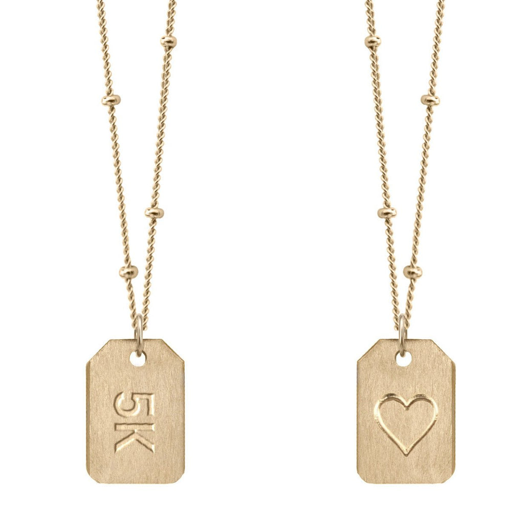 Chelsea Charles 5k gold Love Tag necklace