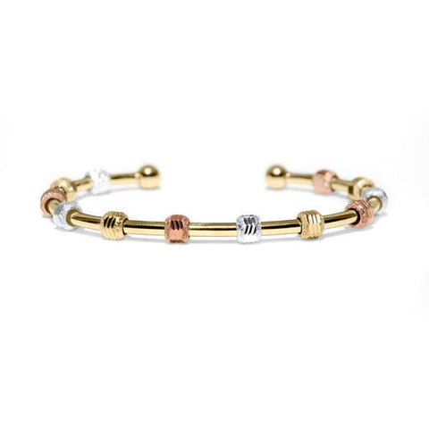 Golf Goddess Gold Tricolor Score Counter Bracelet