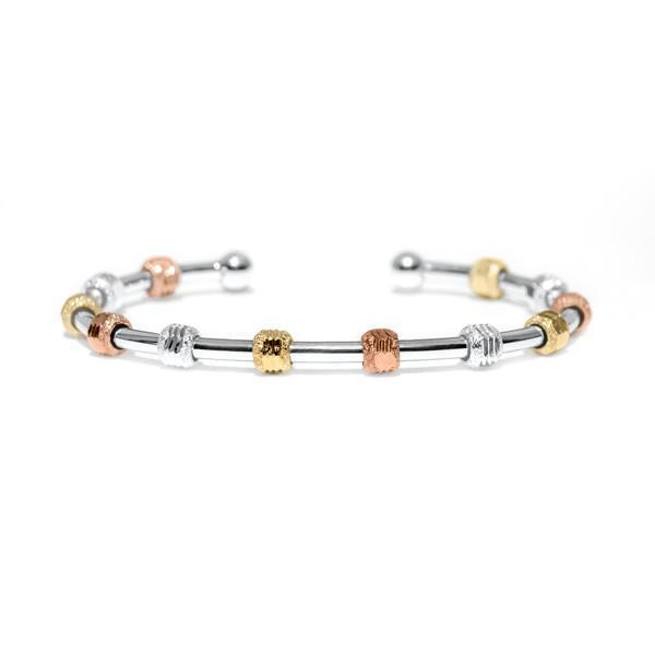 Count Me Healthy Silver Galaxy Tri-Color Bracelet by Chelsea Charles
