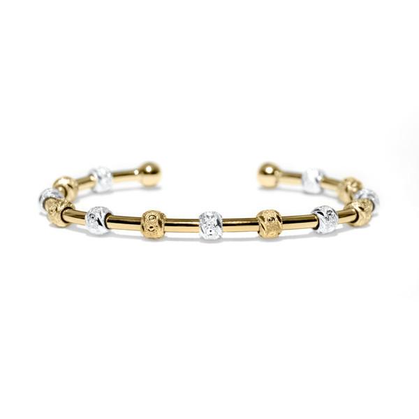 Count Me Healthy Laurel Gold and Silver Bracelet by Chelsea Charles
