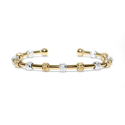 Laurel Two-Tone Gold and Silver Bracelet