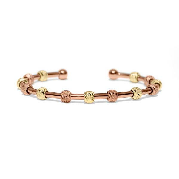 Count Me Healthy Rose Gold Laurel Journal Bracelet by Chelsea Charles