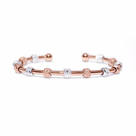 Laurel Two-Tone Rose Gold and Silver Bracelet