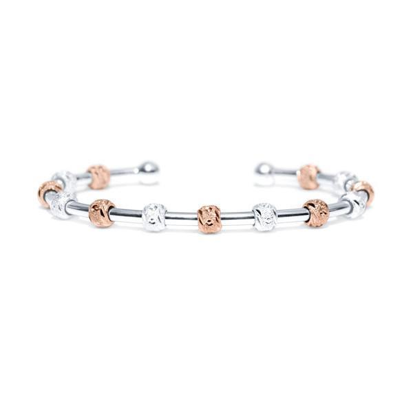 Golf Goddess Silver and Rose Gold Score Counter Bracelet by Chelsea Charles