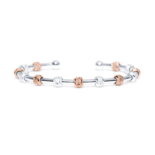 Count Me Healthy Laurel Silver and Rose Gold Bracelet