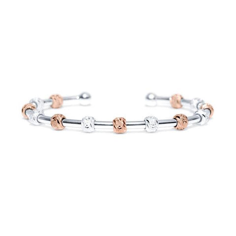 Laurel Two-Tone Silver and Rose Gold Bracelet